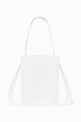 Mansur Gavriel Fringed Leather Bucket Bag - White