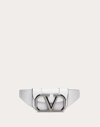 Valentino Garavani Uomo Supervee Leather Belt Bag Man Cherry Red 100% Pelle Bovina - Bos Taurus OneSize