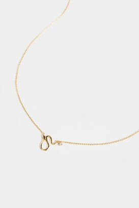 francesca's CZ Snake Pendant Necklace - Gold
