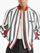 Haider Ackermann Striped Silk Bomber Jacket