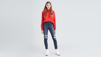 Levi's 721 High Rise Ankle Skinny Ripped Women's Jeans