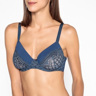 La Redoute Collections Embroidered Tulle Full Cup Bra