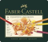 Faber-Castel 24 Piece Polychromous Colored In Metal Tin