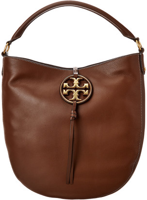 Tory Burch Miller Metal Leather Hobo