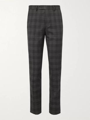 Mr P. Slim-Fit Checked Virgin Wool-Blend Trousers