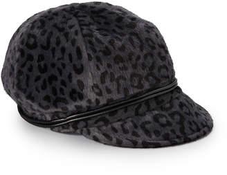 Dynamic Asia Women's Newsboy Caps GREY - Gray Leopard Newsboy Cap