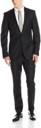 Ben Sherman Men's Camden Solid 2 Button Side Vent Suit