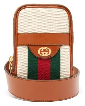 Gucci GG Vintage-canvas Belted Iphone Case - Mens - Cream Multi