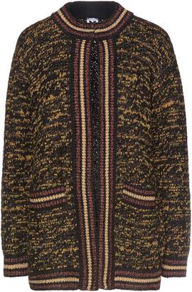 M Missoni Metallic-trimmed Wool-blend Cardigan