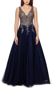 Xscape Evenings Embellished Embroidered Gown