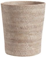 Pottery Barn Tava Wastebasket - Whitewash