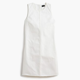 J.Crew Denim shift dress in white wash