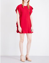 RED Valentino Ruffle-panelled crepe dress