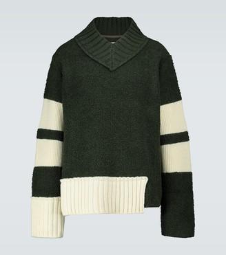 Sacai V-neck wool-blend sweater