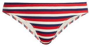 Solid & Striped The Elle Ribbed Bikini Briefs - Womens - Red Stripe