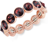 Charter Club Bezel-Set Crystal Stretch Bracelet, Only at Macy's