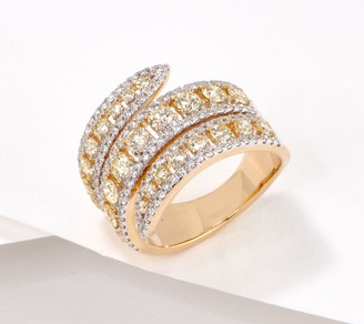 Affinity Diamond Jewelry Affinity 14K Gold Natural Yellow Diamond Wrap Ring, 2.00cttw