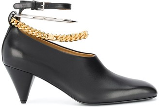Jil Sander Chain Ankle Strap Pumps