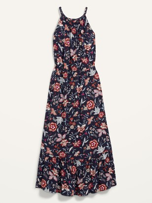 Old Navy Waist-Defined Floral-Print Plus-Size Sleeveless Maxi Dress