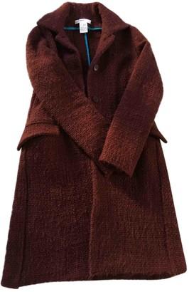 Vanessa Bruno Burgundy Wool Coat for Women