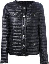 Herno collarless padded jacket - women - Feather Down/Polyamide - 40