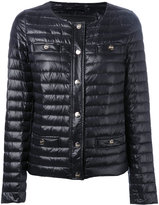 Herno collarless padded jacket