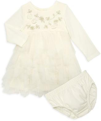 Biscotti Baby Girl's 2-Piece Cotton-Blend Mesh Dress & Bloomers Set