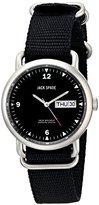 Jack Spade Men's WURU0055 Conway Analog DisplaySwiss Quartz Black Watch
