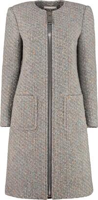 Moschino Boucle Knit Coat