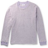 Fanmail Slim-fit Organic Cotton-velvet Sweatshirt - Lilac