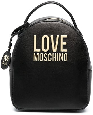 Love Moschino Logo Plaque Tag Detail Backpack
