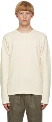 Jil Sander Beige Panelled Long Sleeve T-Shirt