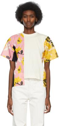 Marni White Colorblocked Asymmetric T-Shirt