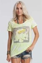 Chaser LA Blondie Raw Edge Raglan in Tie-Dye Yellow