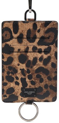 Dolce & Gabbana Animal Print Keyring And Cardholder