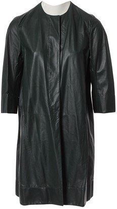 Marni Green Leather Coat for Women