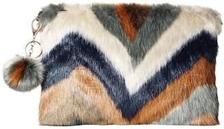 San Diego Hat Company BSB3552 Chevron Faux Fur Clutch (Multi) Clutch Handbags