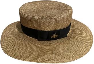 Gucci Gold Wicker Hats
