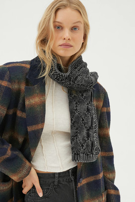 Urban Outfitters Dyed Cable Knit Scarf