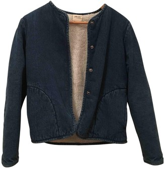 Petite Mendigote Blue Denim - Jeans Leather Jacket for Women