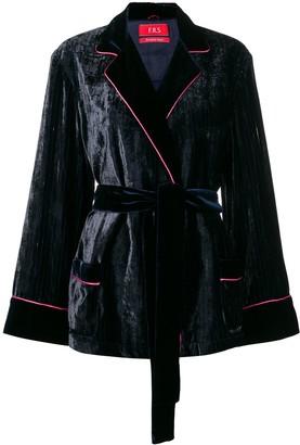 F.R.S For Restless Sleepers velvet wrap jacket