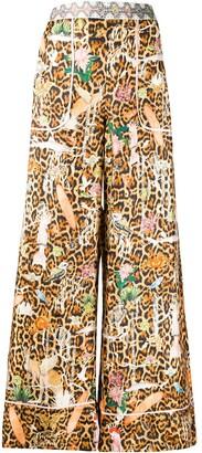 Camilla Fauna Electro-print silk trousers
