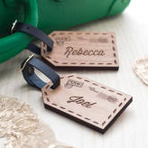 Maria Allen Boutique Personalised Wooden Couples Luggage Tags
