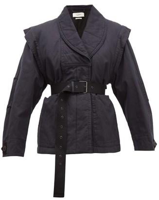 Etoile Isabel Marant Raine Detachable-sleeve Cotton-blend Jacket - Womens - Black