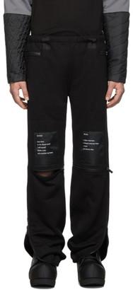 TAKAHIROMIYASHITA TheSoloist. Black Heavy Terry Jogger Lounge Pants