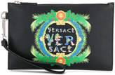 Versace Beverly Palm Print pouch