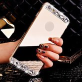 iPhone 6s/6s Plus, Towallmark Luxury Bling Diamond Mirror Back TPU Soft Case Cover (iPhone 6S Plus (5.5 inch), Gold)