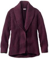 L.L. Bean Signature Shaker-Stitch Wool Cardigan