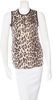 L'Agence Leopard Print Sleeveless Top