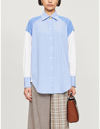 Sandro Kim striped woven shirt